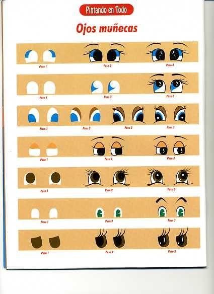 PORCELANA FRIA : pintado ojos de muñecas