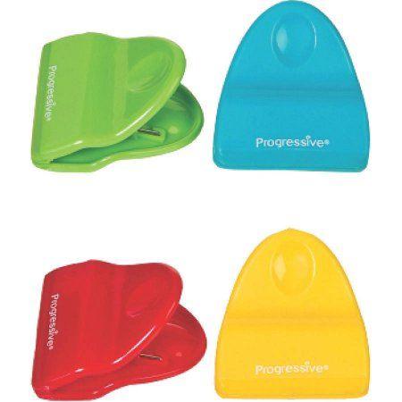 Prepworks Mini Bag Clips, Non-Slip Grips, Includes 4 Colors, Green