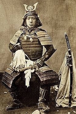 Samurai in armor, Baron Raimund von Stillfried, 1870-1875.