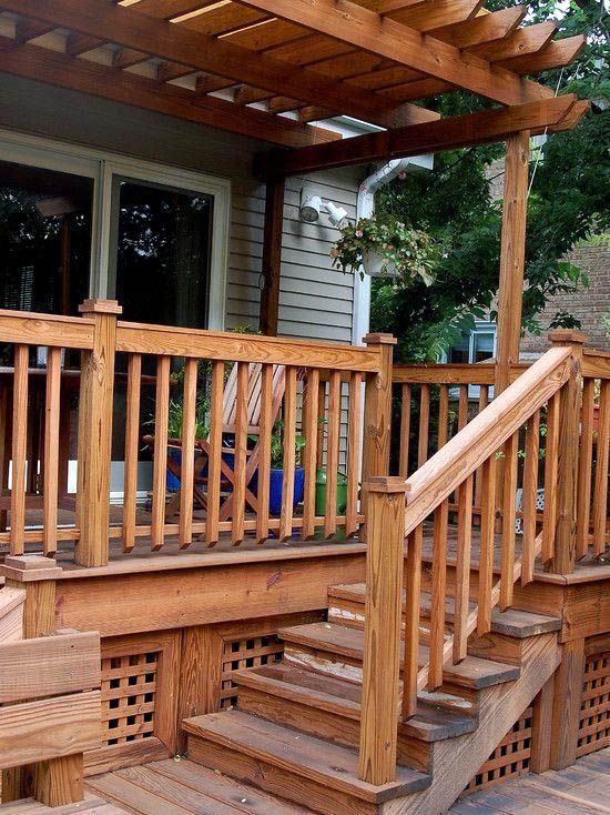 The best and easiest height for deck stair railing to ...