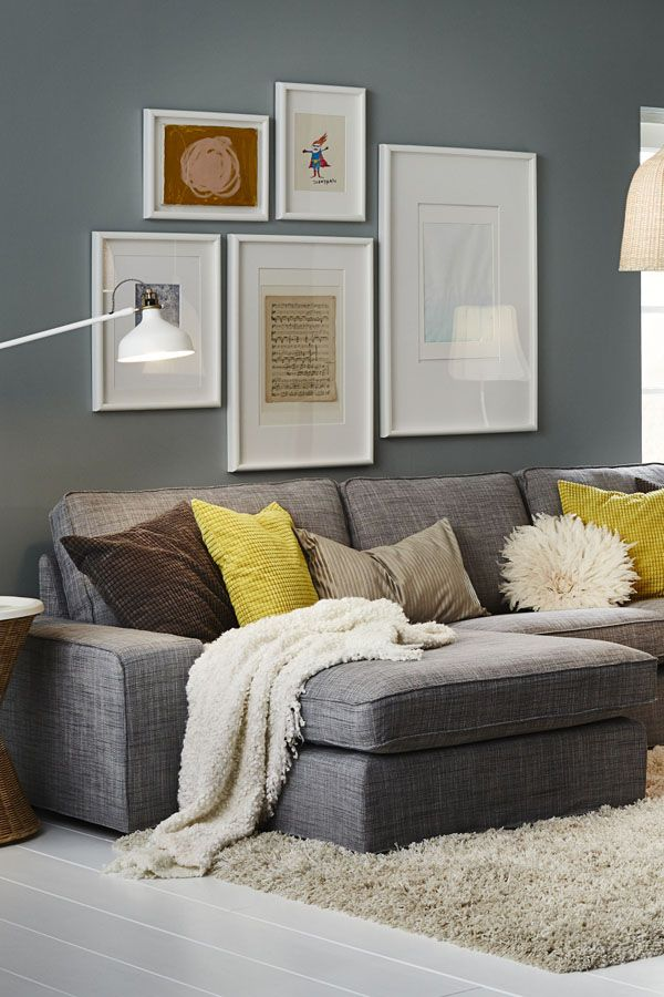Cozy living room ideas the ikea kivik seating series is all about comfort from the supportive memory foam in the seat cushions to the thickly padded