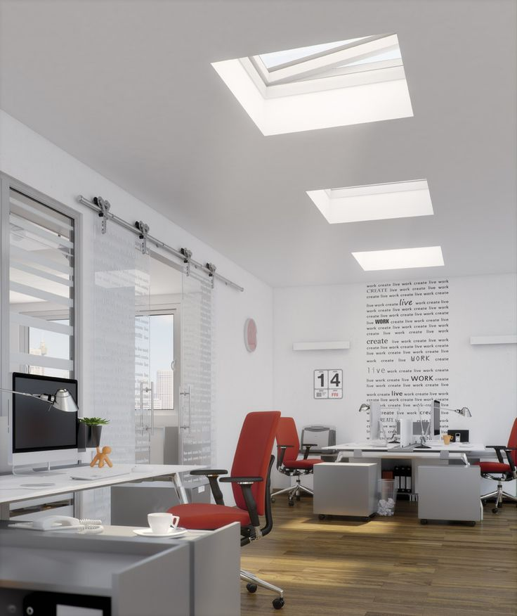 DEF Electric Flat Roof skylight - inside
