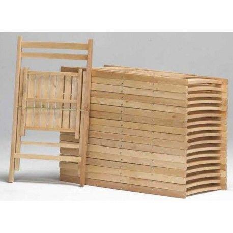 Olvida tus problemas de espacio con este Conjunto de Sillas Plegables de madera que puedes colocar en cualquier lugar ya que ocupan poco espacio. Este pack está compuesto por seis sillas y las tenemos diferentes en varios colores: natural, blanco, cerezo y wengué.