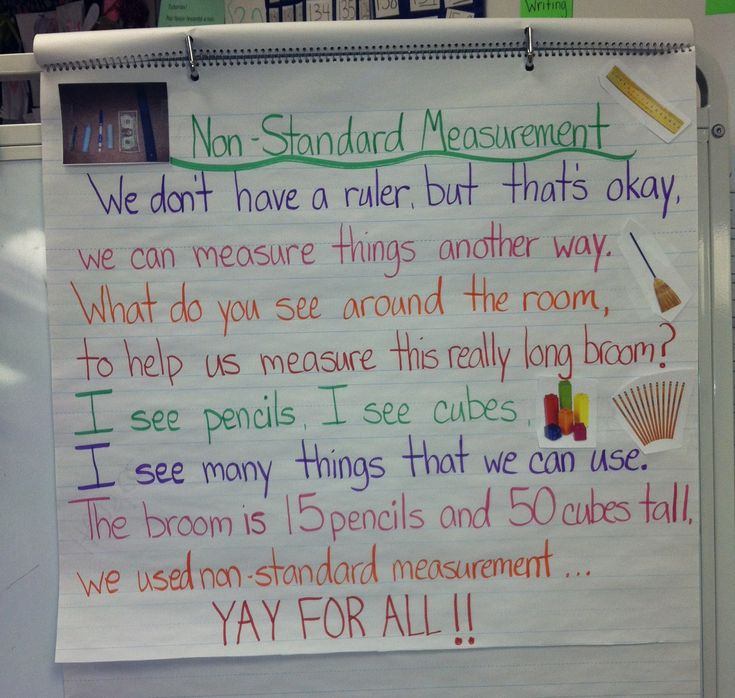 non standard measurement poem  made it up myself for my