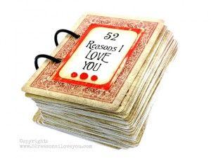 52 redenen I love You boekje