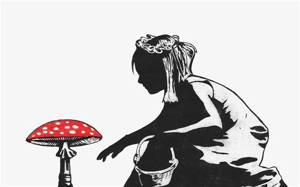 SCREENPRINT BY DOLK - MUSHROOM GIRL