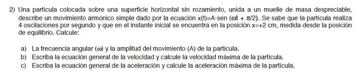 Ejercicios de Movimiento Ondulatorio propuestos en el examen PAU de Canarias de Junio de 2014, opción A.