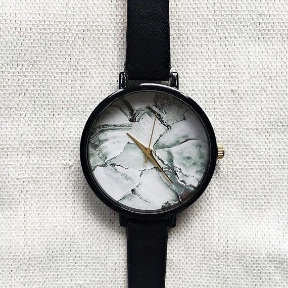 Marble Watch, Women Watches, Wrist Watch, Minimalist Watch, Leather Watch…