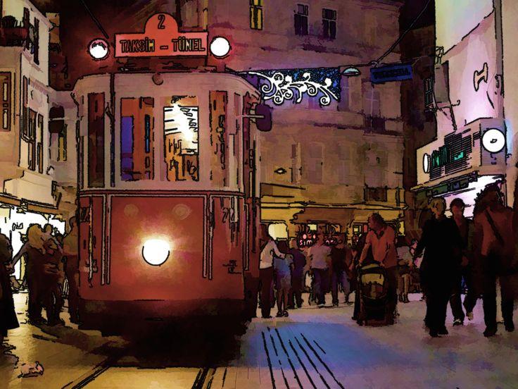 Iconic Taksim #taksim #istanbul #wanderlust #travel #turkey #beautiful #amazing #photos #photography #pictures #artwork #paintings