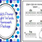 Turn these pages into a simple homework package for your students so they can learn the Dolch Primer words at home.    Want all 5 Dolch homework pack...