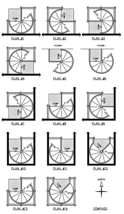 Superior Spiral Stairs : Designs In Metal & Wood