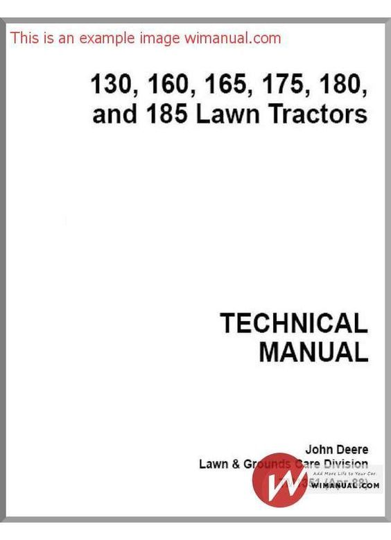 john deere 130 160 165 175 180 technical manual pdf download  this manual  has detailed