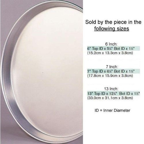 Tapered Round Aluminum Pan 1 1 2 Deep 5 7 8 Top Inner Diameter X 5 1 8 Bottom Inner Diameter Aluminum Pans Sheet Pan Suppers