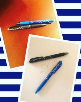 Get blue, black and coloured erasable gel pens online from Rock Paper Scissors at wholesale rates. View product details @ http://www.rockpaperscissors.ae/product-category/accessories/
