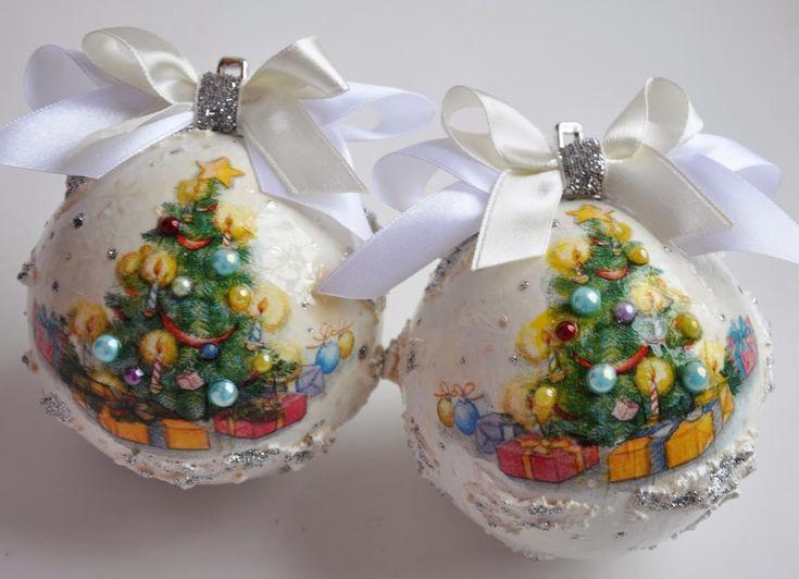 декупаж новогодних шаров - Поиск в Google