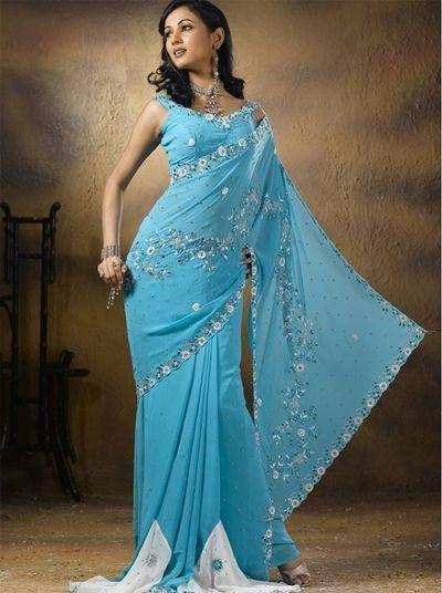 Вечерние и свадебные индийские сари из натурального шёлка, 1 685 моделей (фото цены)