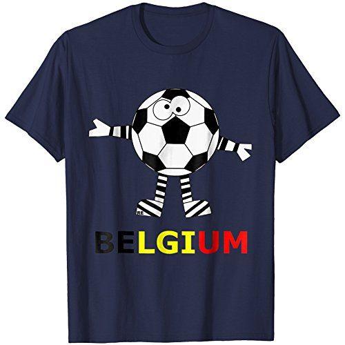 Belgium Soccer T-Shirt Shirt Belgie Belgian Flag Funny Team ... b3d0fee6b