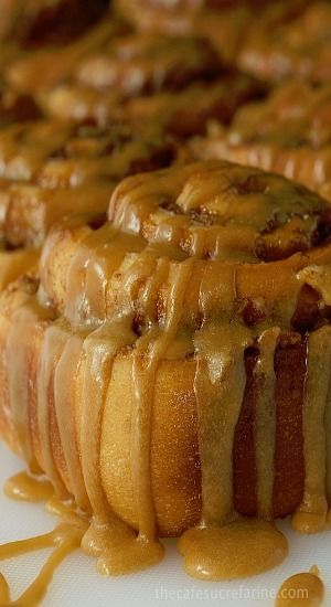 EASY CINNAMON ROLLS WITH CARAMEL ICING