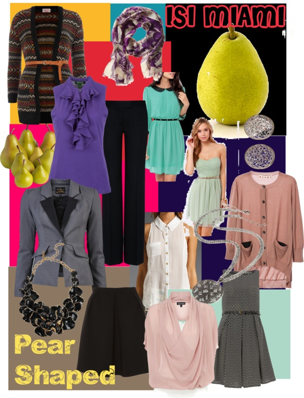 """""""How to dress a Pair Shape"""" by isimiami on Polyvore"""