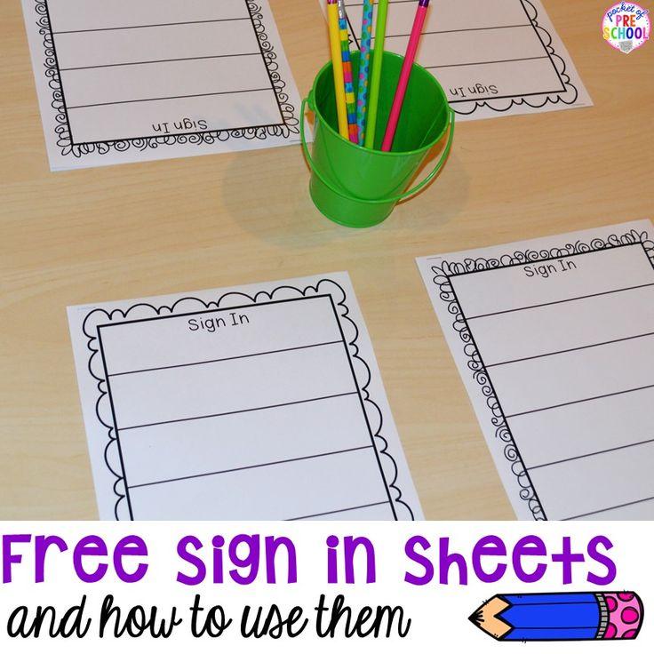 Best 25+ Sign in sheet ideas on Pinterest Preschool sign in - blank sign in sheet