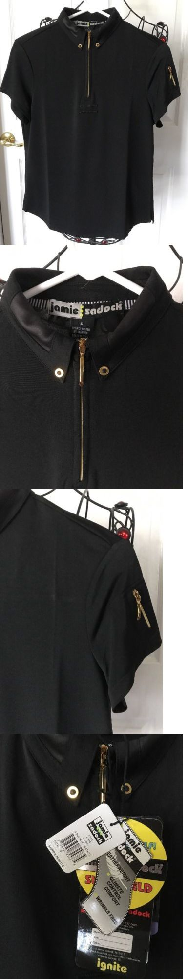 Shirts Tops and Sweaters 181149: Jamie Sadock Woman S Short Slv Golf Top Small Black Gold Nwt 78.00 -> BUY IT NOW ONLY: $39.99 on eBay!