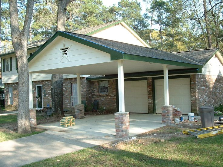 19 best images about carport on pinterest flats the for Carport in front of house