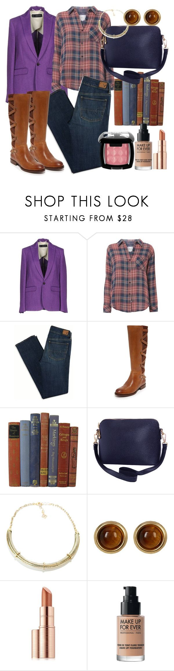 """""""Academic day"""" by francymayoli ❤ liked on Polyvore featuring Dsquared2, Rails, American Eagle Outfitters, Frye, Humble Chic, BCBGMAXAZRIA, House of Harlow 1960, Estée Lauder, MAKE UP FOR EVER and NYX"""