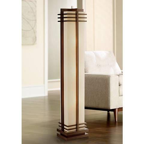 17 best ideas about asian lamp shades on pinterest Possini euro design deco style walnut column floor lamp