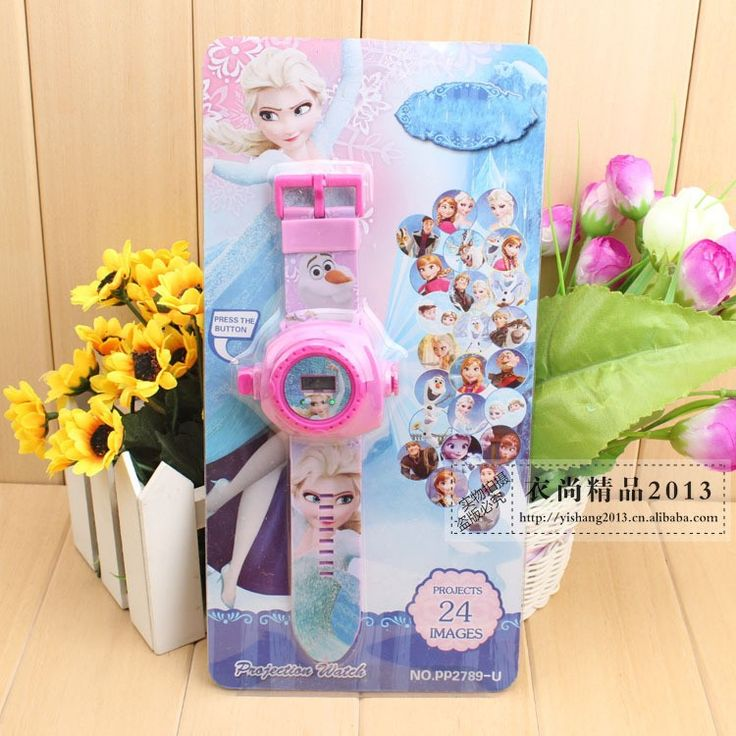 Fashion Kids 24 projection  cartoon watch Snow Queen Princess Elsa Anna children wristwatches clock girl gift #>=#>=#>=#>=#> Click on the pin to check out discount price, color, size, shipping, etc. Save and like it!