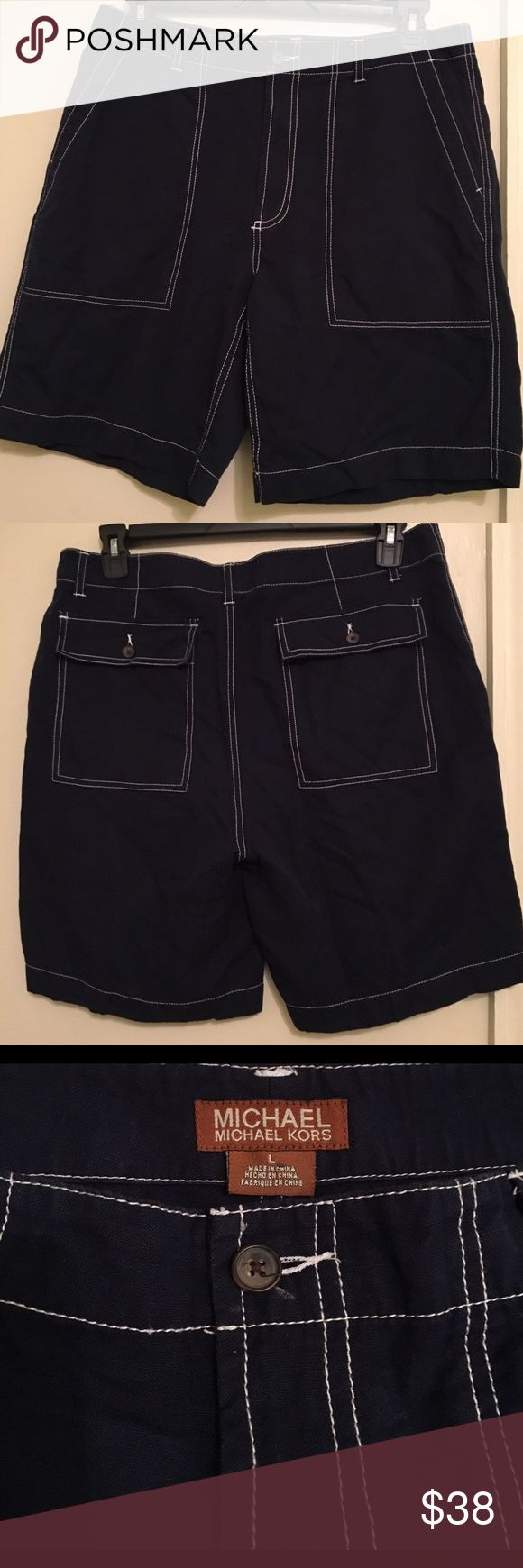 MICHAEL Michael Kors Men's Shorts/Swimming Trunks. MICHAEL Michael Kors Men's Shorts/Swimming Trunks. Great Condition. Dark blue with White Stitching. ⭐️Thank you for stopping by⭐️Next day shipping⭐️No trade⭐️Bundle⭐️Feel free to ask any questions. MICHAEL Michael Kors Shorts