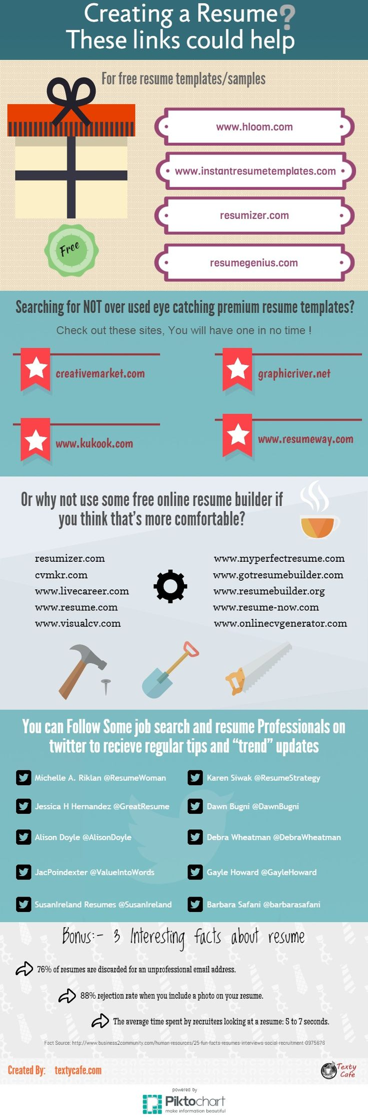 how to make a resume infographic by textycafe httptextycafecom - Tips For Writing A Resume
