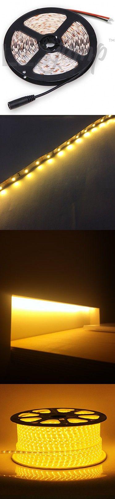 LEDJump High Power Ouput Lumen Flexible 300 LED Light Strip Ribbon 16 Ft 5 Meter 3M Tape Warm White 2500-2700k 12V