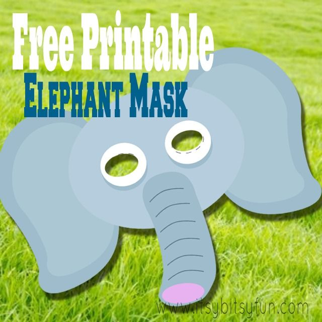 Free Printable Elephant Mask Template - Itsy Bitsy Fun