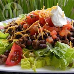 Salade tacos aux haricots noirs