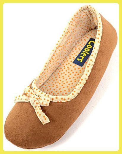 Damenschuhe/Slippers mit unverstärkter Sohle - Hellbraun - EU 40 - 41 - Slipper und mokassins für frauen (*Partner-Link)