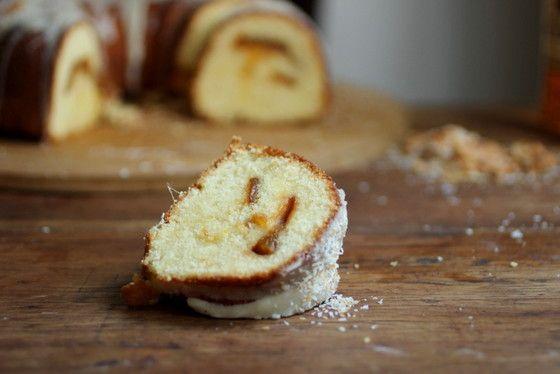 Caramelized Mango Tropical Bundt Cake #BundtaMonth | Vintage Kitchen Notes