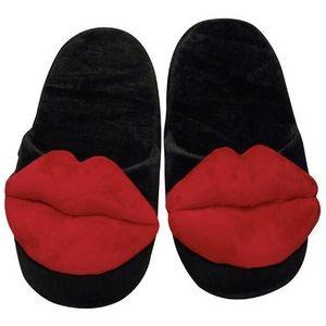 Papuci de casa, amuzanti, cu buze. Marime: universala (max marimea 44).