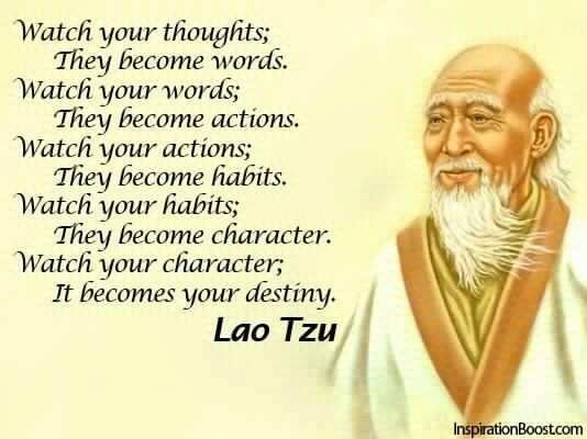 Watch your thoughts....