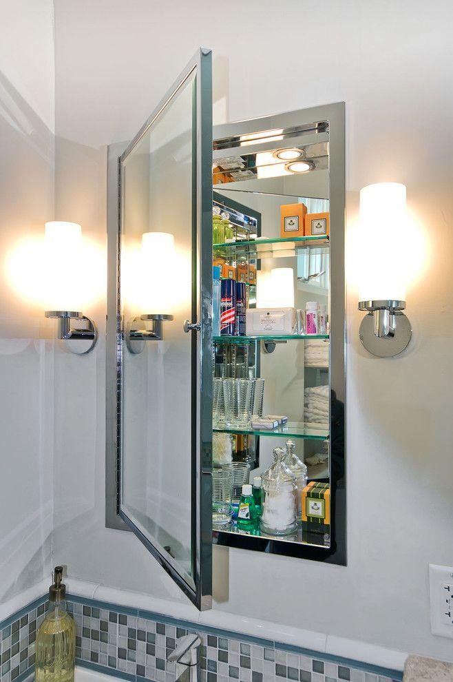 Innovative recessed medicine cabinet in bathroom modern for Bathroom cabinets next