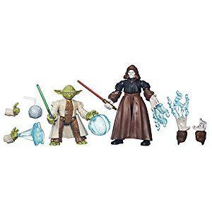 Star Wars Hero Mashers Yoda vs. Emperor Palpatine: Hasbro: Amazon.co.uk: Toys & Games