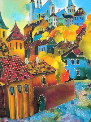 Yelena Sidorova Silk Painting Demo