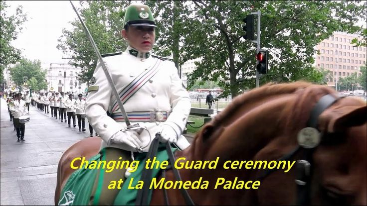 Changing the Guard ceremony at La Moneda Palace in Santiago, Chile
