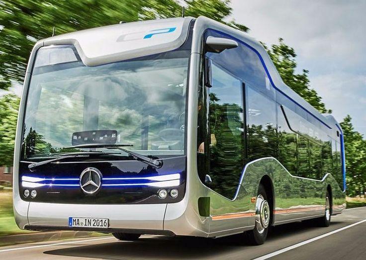 The autonomous driving Mercedes-Benz Future Bus with CityPilot is