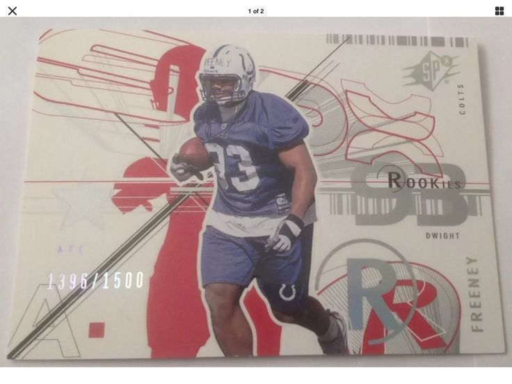 Dwight Freeney Indianapolis Colts 2002 SPx Football Card #114 Rookie 1396/1500