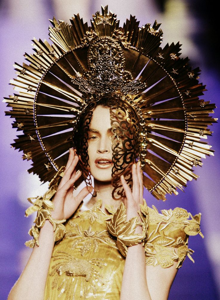 Jean-Paul Gaultier Haute Couture Spring/Summer... halo/crown