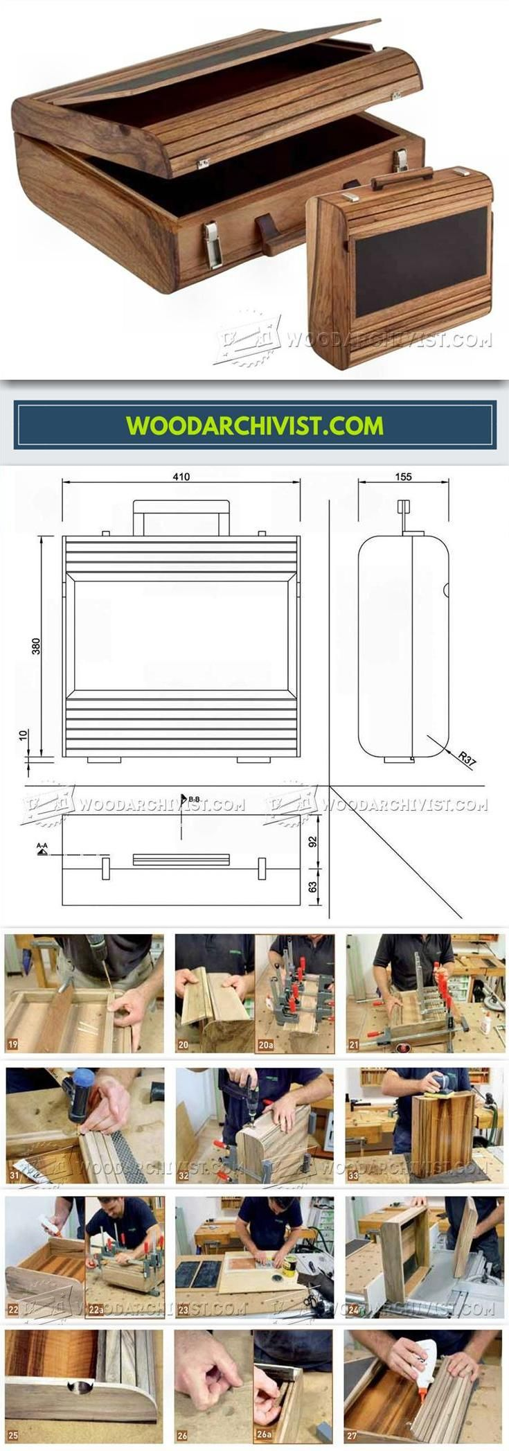 DIY Wooden Attache Case - Woodworking Plans and Projects | WoodArchivist.com
