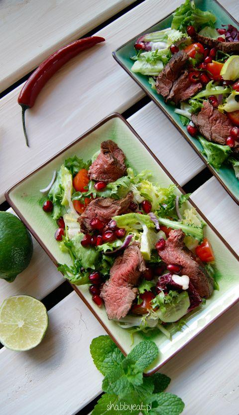 tajska sałatka z wołowiną / thai salad with beef recipe