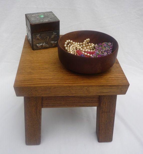 Oak square stool or table via Etsy