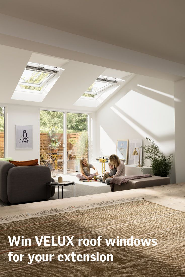 Enter our competition to win VELUX roof windows for your home, plus £1000 to spend in John Lewis to add that extra wow factor!  Enter now
