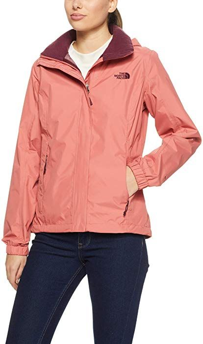 The North Face Women s Resolve 2 Jacket - Faded Rose   Fig - XS at Amazon 898d59cad